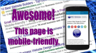 TN business website design must be mobile friendly.