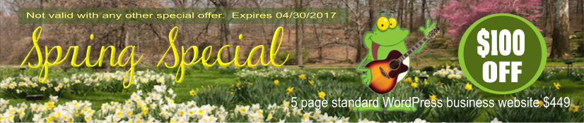 Clarksville TN website design Spring special.